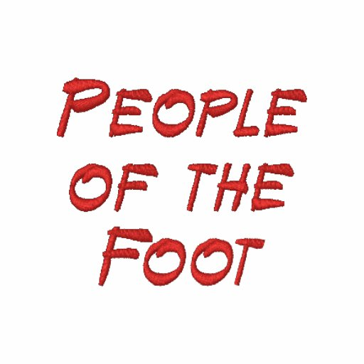 """Men's """"People of the Foot"""" Embroidered Left Shirt"""