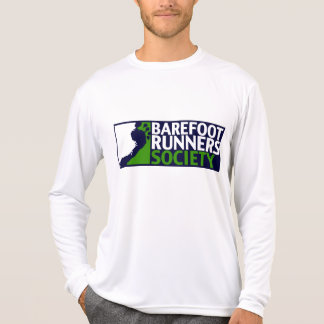 Men's performance microfiber long sleeve logo T-Shirt