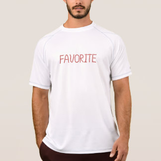 Men's performance T-shirt with 'favorite'