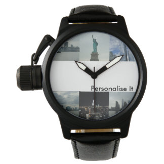 Mens Personalise It New York Custom Photo Watch