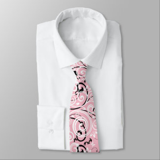 Men's Pink Flourish Tie