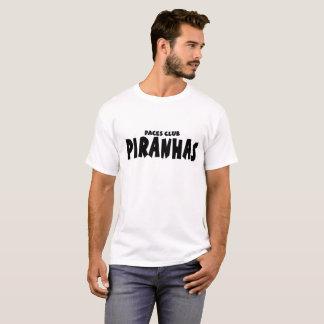 Men's piranhas black and white basic T-Shirt