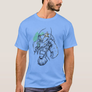 Mens Pirate Crayfish T-Shirt in Colour