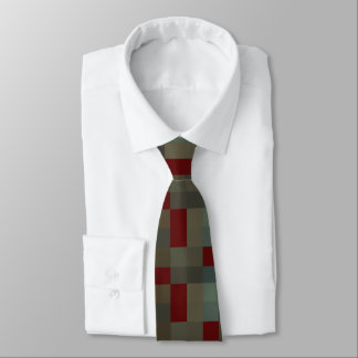 Mens Plaid Modern  Design Tie
