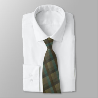 Mens Plaid Traditional  Design Tie