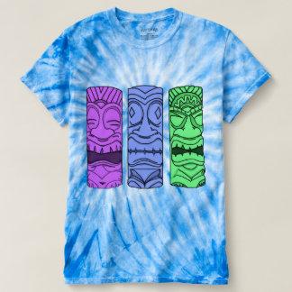 Men's Pop Art Tiki Head Tie Dye Tee