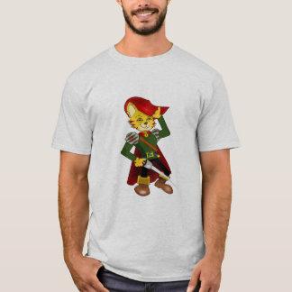 Mens Puss In Boots Design T-Shirt