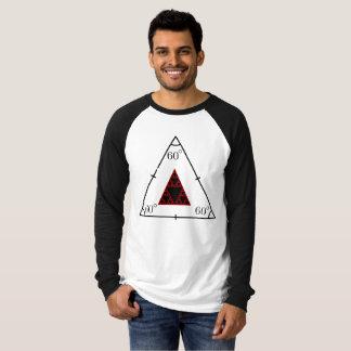 """Men's Raglan """"60 degrees"""" Triangle Tshirt"""