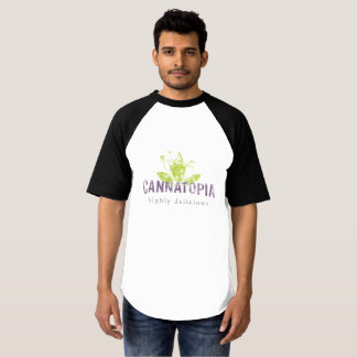 Men's Raglan Baseball Cannatopia Smoke Tee