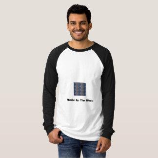 Men's Raglan Long Sleeve T Shirt w/ music text Lg