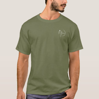 Men's Recurve Archer - Crest (Dark) T-Shirt