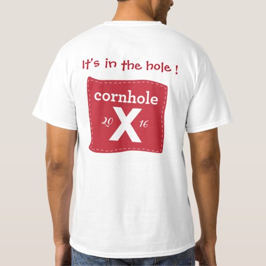 Men's Red Cornole - It's in the hole ! T-Shirt