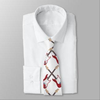 Men's Red Guitar Necktie