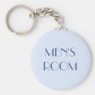 Men's restroom keyring basic round button keychain