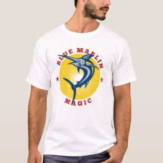 Mens Retro Blue Marlin Magic T-Shirt