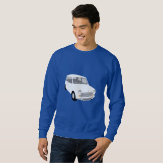 Men's Retro Car Swearshirt Royal Blue Sweatshirt