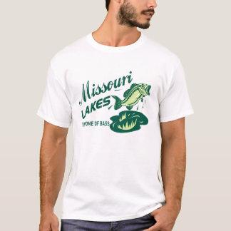 Mens Retro Missouri Lakes Bass Fishing T-Shirt