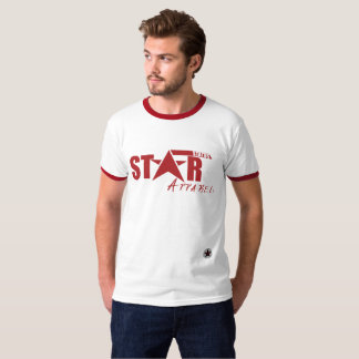 Men's Retro Star Status Apparel Ringer T-Shirt