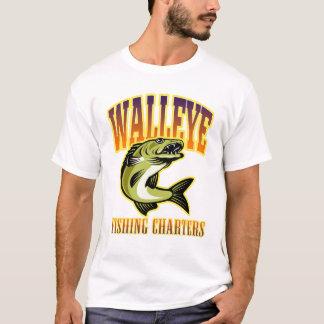 Mens Retro Walleye Fishing Charters T-Shirt