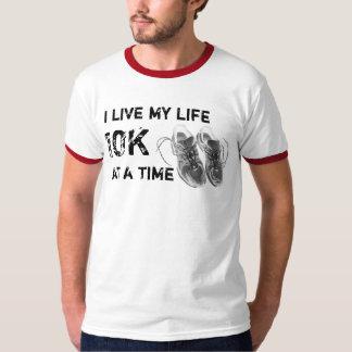 Men's Ringer - I live my life 10K at a time T-Shirt