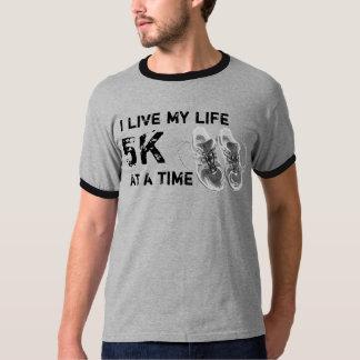 Men's Ringer - I live my life 5K at a time T-Shirt