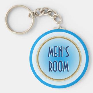 Men's Room Custom Basic Round Button Keychain