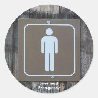 Mens Room Sticker