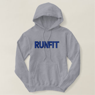 "Men's ""RUNFIT"" Embroidered Pullover Hoodie"
