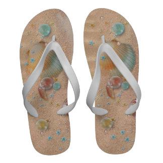 Mens Sand and Seashells Beach Wedding Sandals