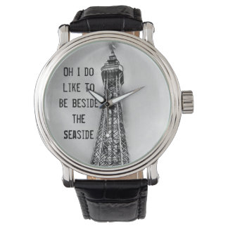 Mens seaside Blackpool tower themed watch