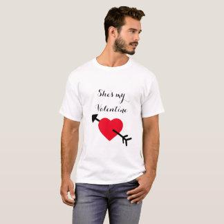 "Men's ""She's my Valentine"" Valentine's Day Shirt"