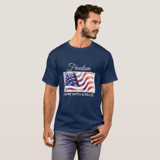 Men's Shirt American Flag Freedom Came With Price