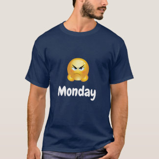 Men's Shirt Monday Emoji Grumpy