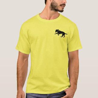 Men's shirt playful black lab