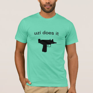 "Men's Shirt ""Uzi Does It"""