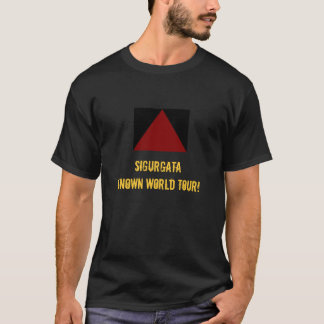 Mens SIGURGATA Known World Tour T-Shirt