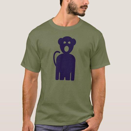 Men's Sing Monkey Logo Crew Neck Colour T-shirt