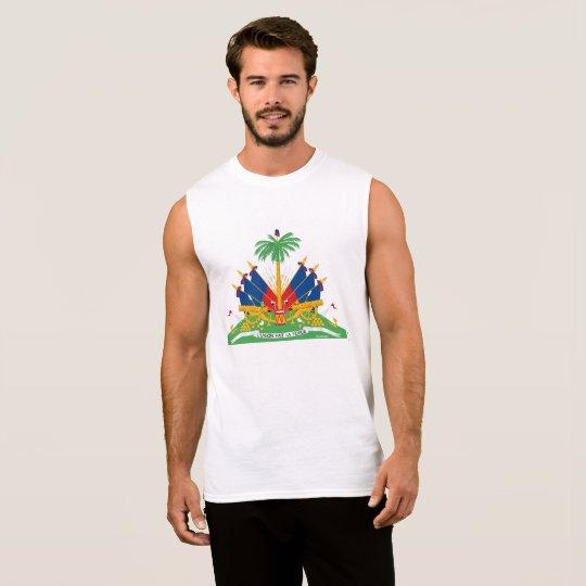 Mens Sleeveless Haiti Coat of Arms T-shirt