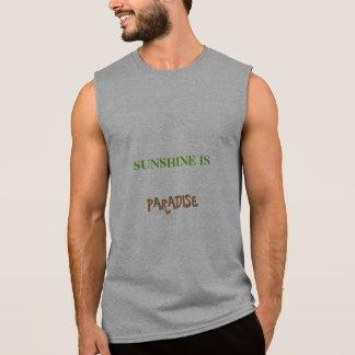 MEN'S SLEEVELESS T-SHIRT - SUNSHINE IS PARADISE