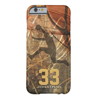 mens sports basketball dunk personalize barely there iPhone 6 case