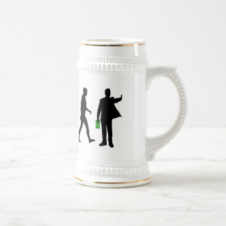 Mens Sports coach sports manager trainer work Beer Stein