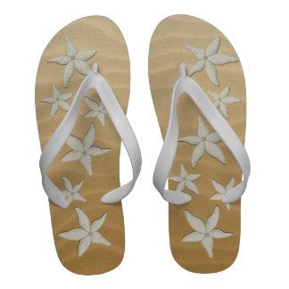 Mens Starfish Beach Wedding Flop Flops Flip-Flops