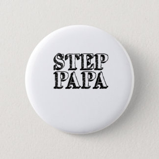 Mens Step Papa Bear Father's Day 2 Inch Round Button