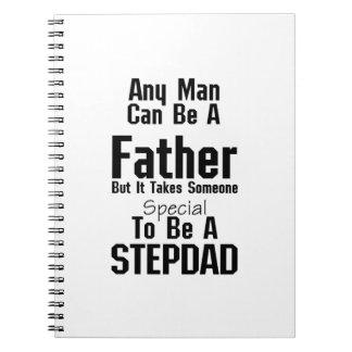 Mens Stepdad  Gift Dads Stepdad Grandpa Spiral Notebook