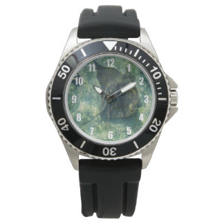Mens Stingray Black Watch with Numbers in White