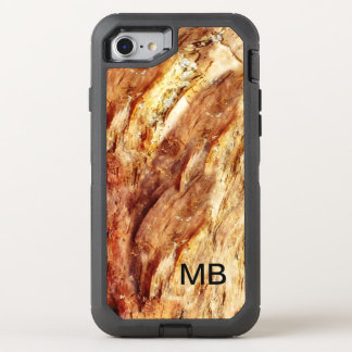 Mens Stone Look Monogram OtterBox Defender iPhone 8/7 Case