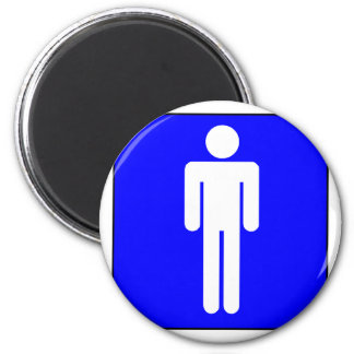 Mens Symbol 2 Inch Round Magnet