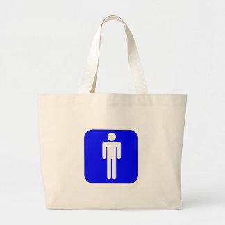 Mens Symbol Jumbo Tote Bag