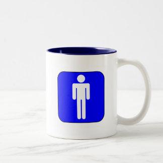 Mens Symbol Two-Tone Coffee Mug