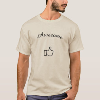 Mens T-Shirt, Awesome - Thumbs Up T-Shirt
